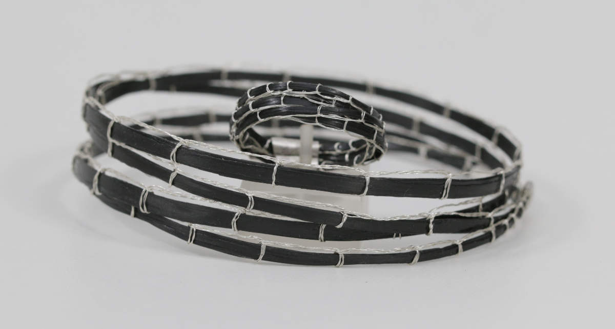 Carbon Armband und Ring