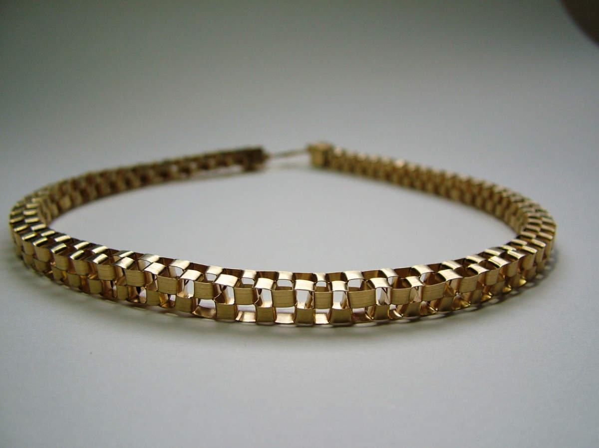 Flechtkette Silber, Gold plattiert
