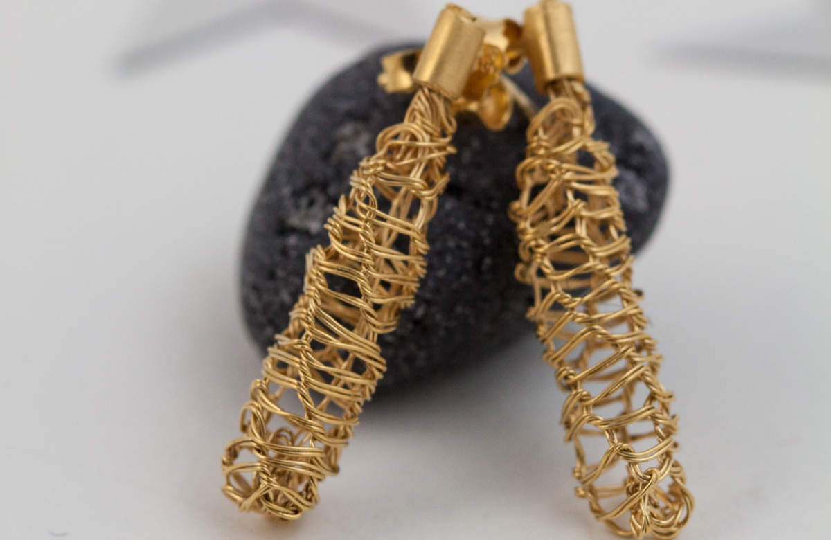 Ohrringe 925 Silber Gold plattiert