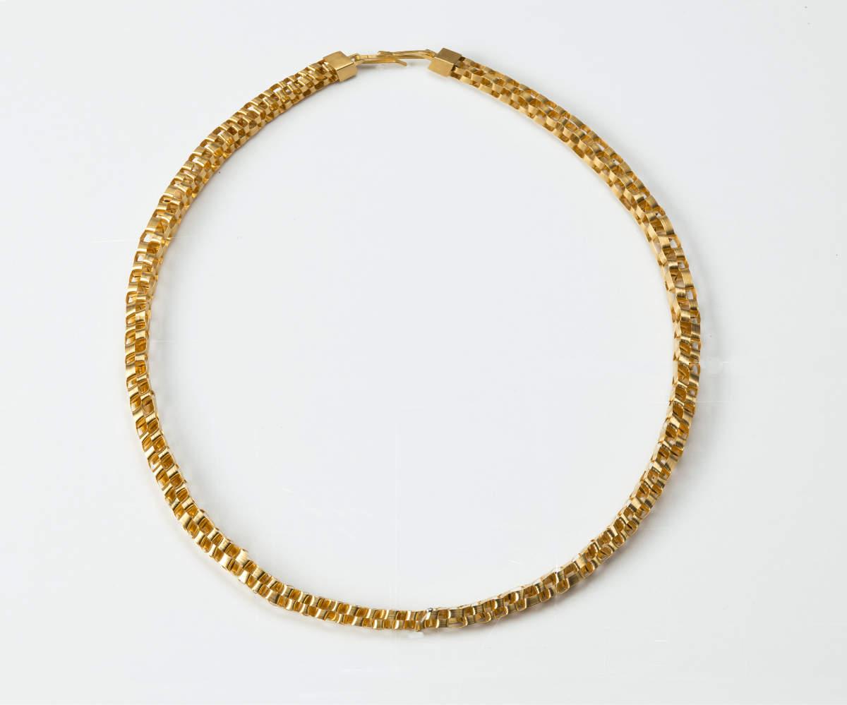 Kette geflochten Gold plattiert