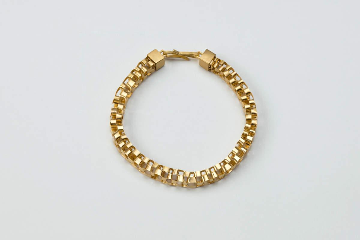 Armband geflochten Gold plattiert