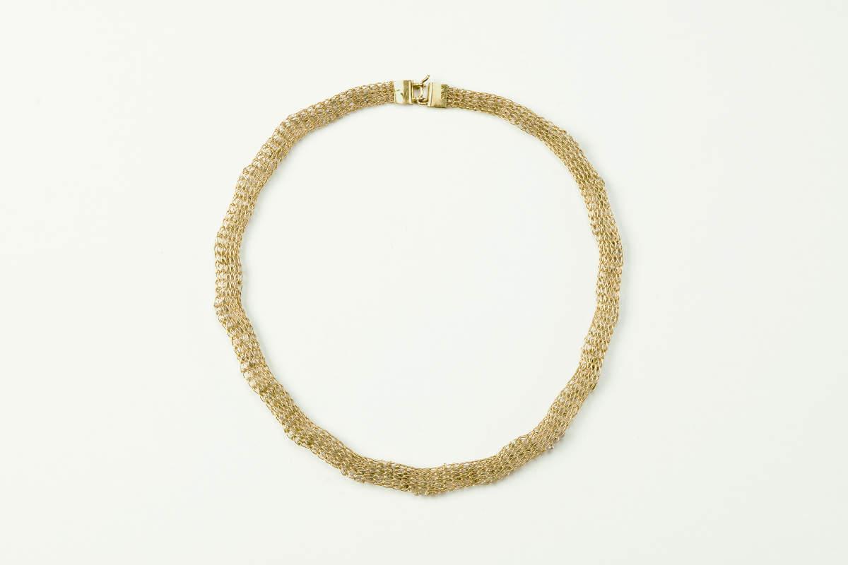 Handgestricktes Diamantcollier  750 – 18 Karat Gelb-Gold