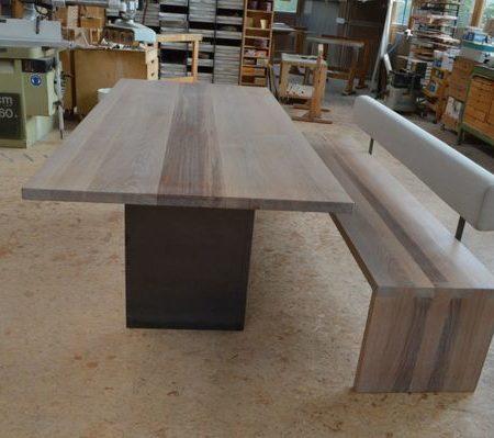 Tisch und Bank Erle massiv